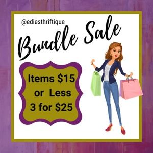 ITEMS $15 OR LESS, 3/$25